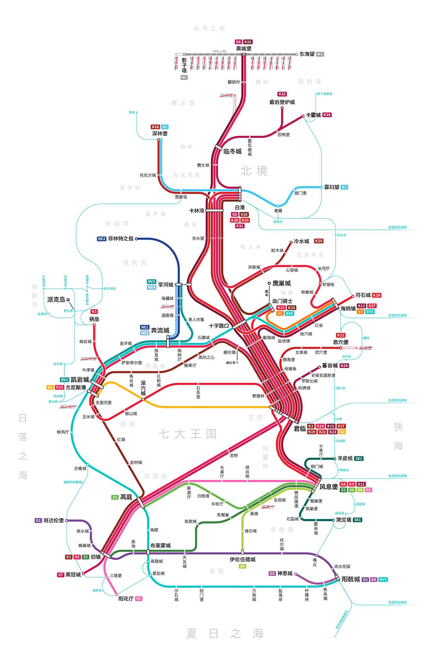 Game of Thrones Map CHINESE-3
