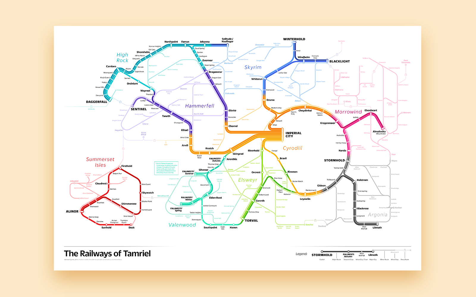 Elder Scrolls transit map